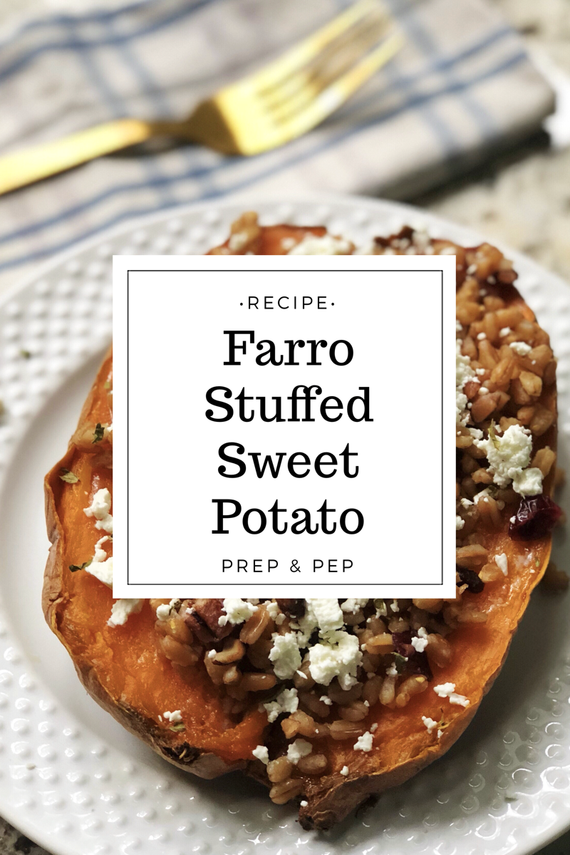 [RECIPE]: Farro Stuffed Sweet Potato