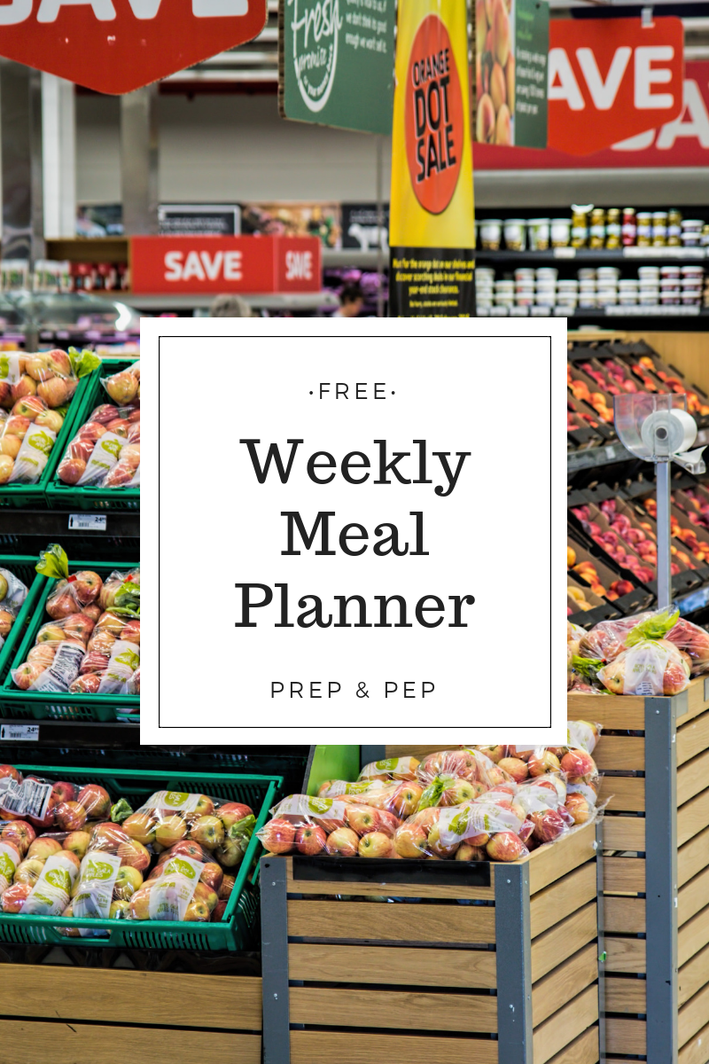 FREE DOWNLOAD: Weekly Meal Planning Sheet