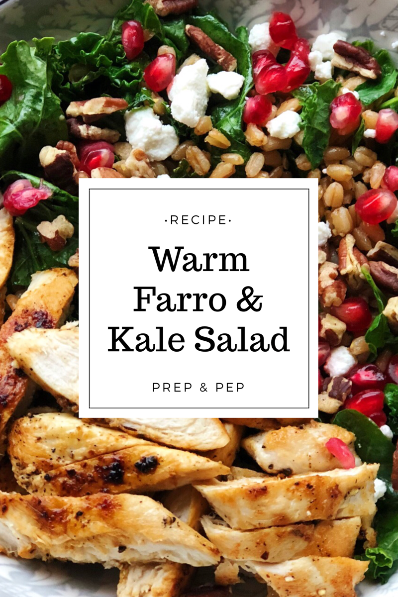 [RECIPE]: Warm Farro & Kale Salad