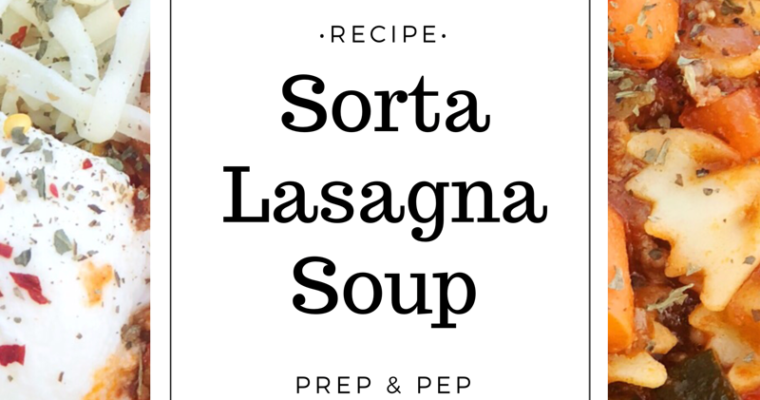 [RECIPE]: Sorta Lasagna Soup